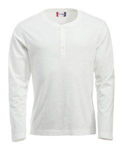 Eigentijds T-shirt met lange mouwen en knoopsluiting voor een unieke uitstraling. Het T-shirt is gemaakt van hoogwaardig garen voor een optimaal draagcomfort en een fraai onderscheidend vermogen. De behandelingen met softener en enzymen zorgen ervoor dat het T-shirt zacht en glad aanvoelt.