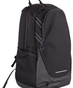Functionele rugzak met een doordachte pasvorm inzetbaar voor diverse doeleinden. De tas is voorzien van diverse compartimenten voor het overzichtelijk opbergen van uw spullen. De tas is onder andere voorzien twee grote compartimenten voor het veilig opbergen van bijvoorbeeld een laptop. Verder is de tas voorzien van verborgen zakken voor het veilig opbergen van waardevolle spullen. De tas is zo ontworpen dat hij gemakkelijk aan een rolkoffer bevestigd kan worden. De tas is hoogwaardig afgewerkt reflecterende details voor betere zichtbaarheid. Afmetingen en volume: 45x23x20cm – 28 L