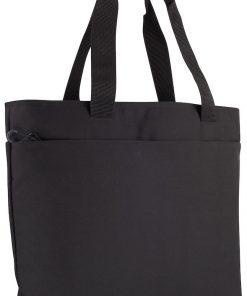 Moderne laptoptas. De tas is voorzien van een groot compartiment met een gewatteerde afscheiding voor het veilig opbergen van een laptop. Verder is de tas voorzien van twee zakken met rits aan de buitenzijde voor het overzichtlijk opbergen van uw spullen. Verder is de tas uitgerust met een schouderband met ruimte voor het opbergen van een visitekaartje. De tas is gemakkelijk te bevestigen aan bijvoorbeeld een rolkoffer. Afmeting en volume: 38x33x14