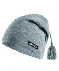 Craft Knitted hat promo grey melange